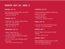 Oct 26 - Nov 2